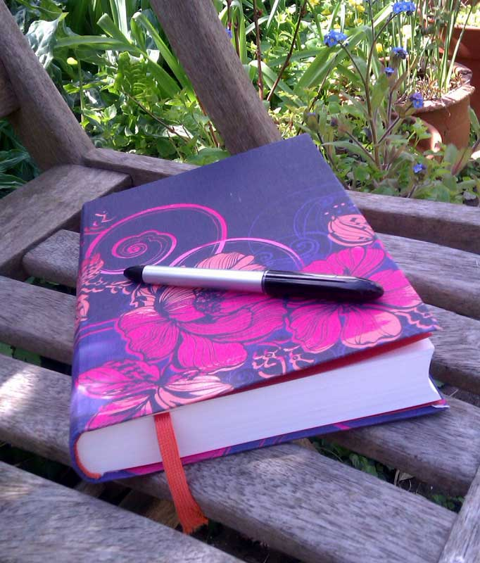 journal on bench