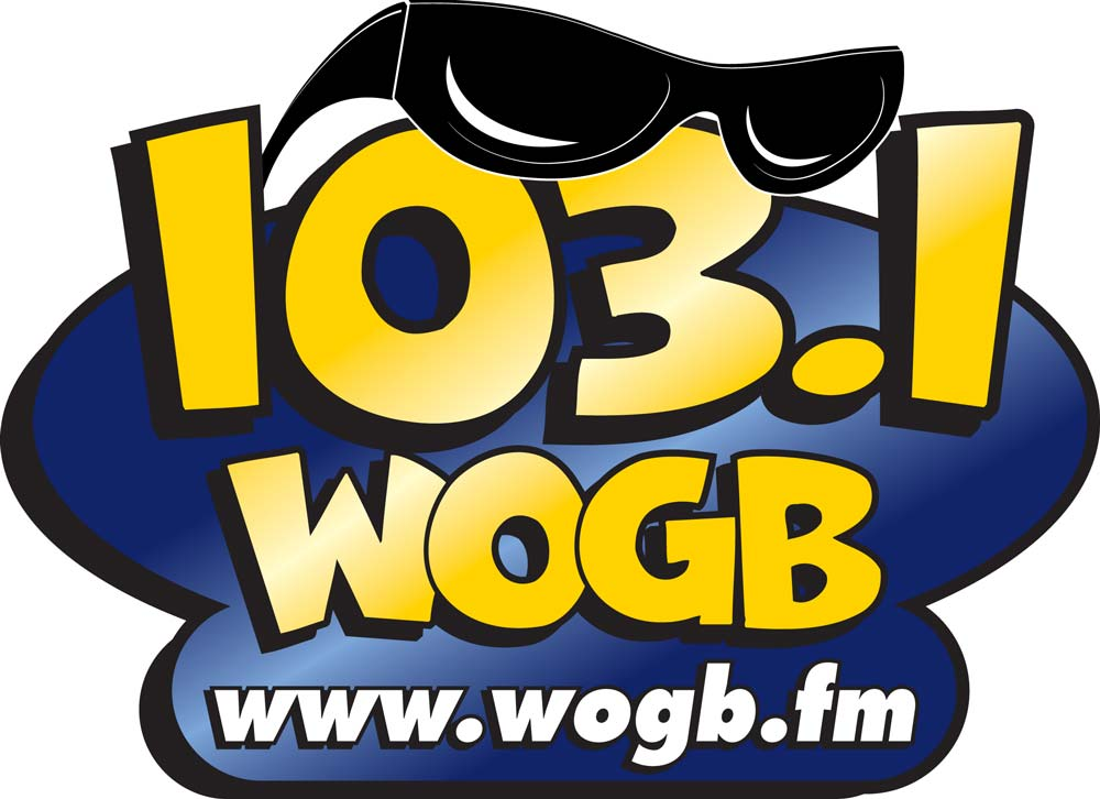logo for 103.1 WOGB