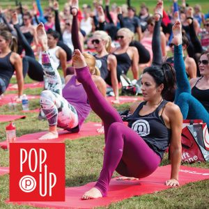 women particpating in pure barre pop-up