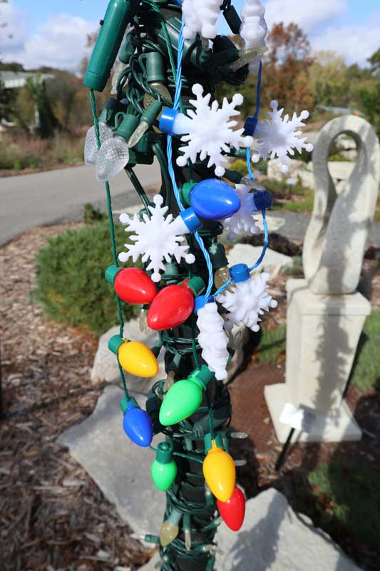 Christmas light necklaces