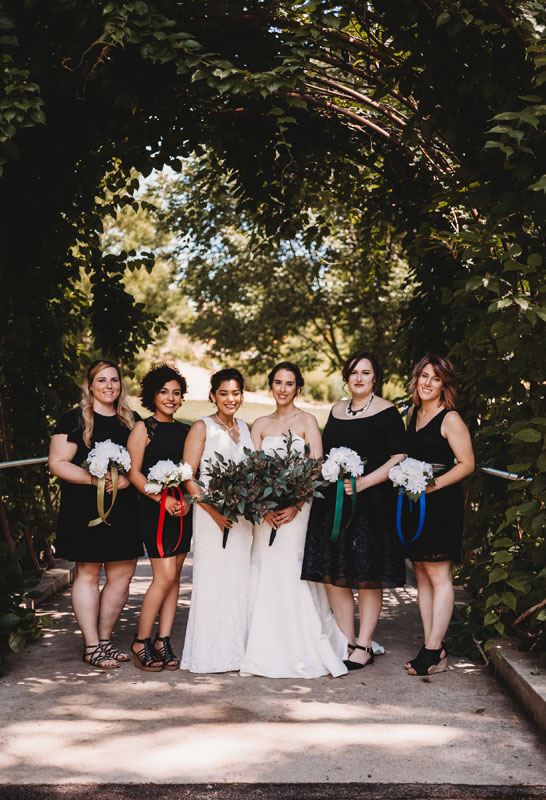bridal party PC: Abigail Miles Photography