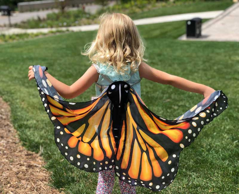 girl with monarch butterfly wings PC Chad Krause