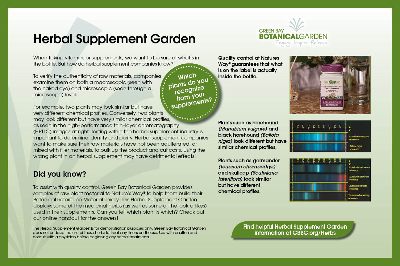herbal supplement sign