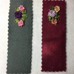 embroidered flower bookmark